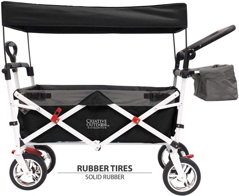 Creative Outdoor Push Pull Wagon with Canopy