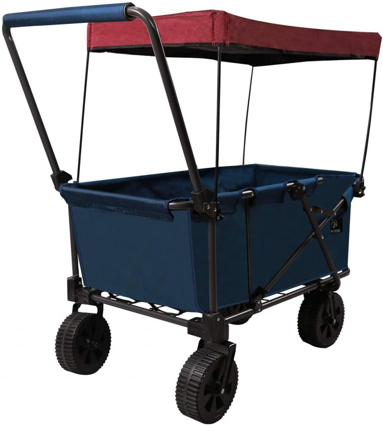 REDCAMP Folding Beach Wagon with Canopy